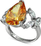 Giani Bernini Champagne & Clear Cubic Zironcia Ring in Sterling Silver, Created for Macy's