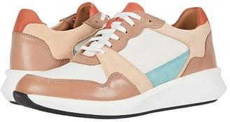 Clarks Un Rio Run (White Textile/Suede Combi) Women's Shoes