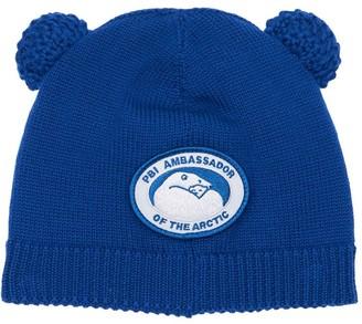Canada Goose Logo Patch Wool Beanie