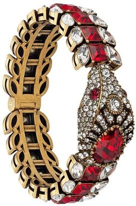 Gucci Crystal Embellished Snake Bracelet