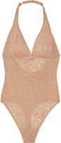 Yummie by Heather Thomson Cooper Stretch-lace Bodysuit - Beige