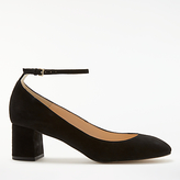 John Lewis Angie Block Heeled Court Shoes, Black