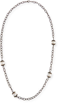 Siena Jewelry Pearl & Diamond Station Necklace