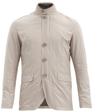 Herno Band-collar Rain Jacket - Cream