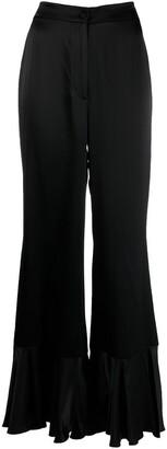 L'Autre Chose Flared Ruffle Trousers