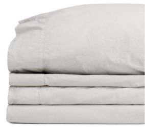Jennifer Adams Home Jennifer Adams Relaxed Cotton Percale California King Sheet Set Bedding