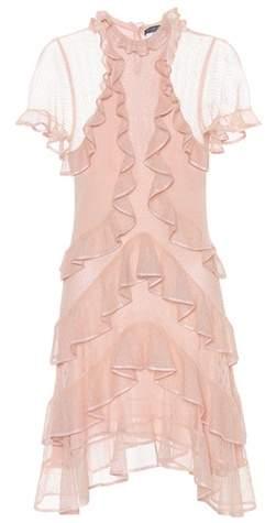 Alexander McQueen Silk draped ruffle dress