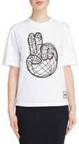 Kenzo Women's Peace World Embroidered Cotton Tee