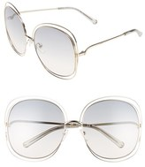 Chloé Women's Carlina 62Mm Oversize Sunglasses - Gold Transparent/ Light Grey