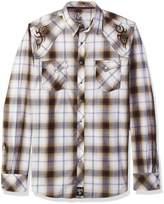 Wrangler Men's Big and Tall Rock 47 Long Sleeve Plaid Shirt