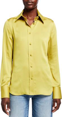 Lafayette 148 New York Harbison Carlisle Cloth Button-Front Blouse