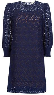 MICHAEL Michael Kors BLOUSON SLV LACE DRS women's Dress in Blue