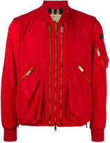 Burberry zipped bomber jacket - men - Cotton/Polyamide - 48