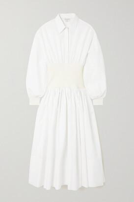 Alexander McQueen - Cotton-poplin Shirt Dress - White