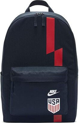Nike USA Stadium Backpack (Dark Obsidian/White/Speed Red/White) Backpack Bags