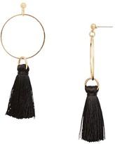 Aqua Larissa Tassel Hoop Earrings - 100% Exclusive