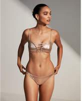 Express metallic basic bikini swim bottoms