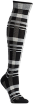 Ozone Women's Constructive Plaid Knee High Socks (2 Pairs)