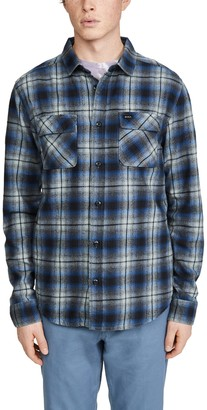 RVCA Hostile Flannel Plaid Long Sleeve Shirt