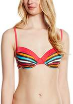 Palmers ladies strap bikini top Top lined Tropical Stripe, Gr. (Manufacturer Size: B / S (CuPb / Size S), Multi (BUNT 199)
