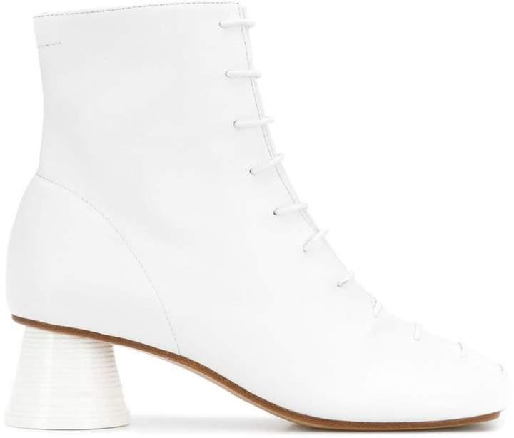 MM6 MAISON MARGIELA plastic cup-heel boots