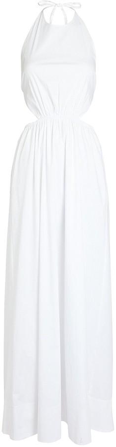 STAUD Apfel Poplin Maxi Dress