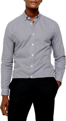 Topman Slim Fit Gingham Check Button-Down Shirt