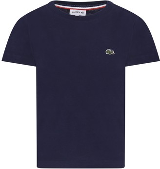 Lacoste Blue T-shirt For Boy With Iconic Crocodile