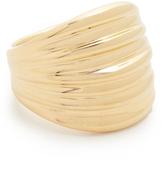 Soave Oro Ribbed Graduated Ring