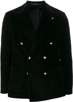 Tagliatore double breasted corduroy blazer