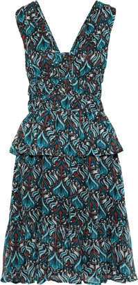 Walter Baker Misty Printed Georgette Peplum Dress