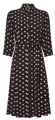 Dorothy Perkins Womens Black 3/4 Sleeve Shirt Dress, Black