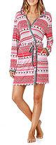 Peanuts Holiday Snoopy & Heart Fair Isle Hooded Wrap Robe