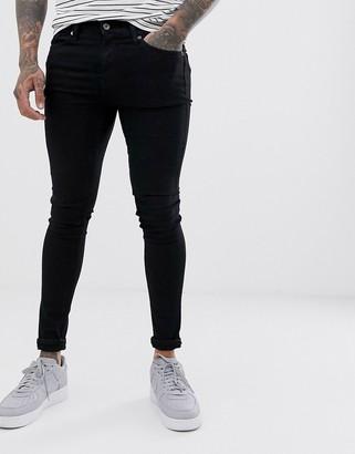 Topman super spray on jeans in black