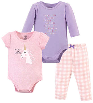 Luvable Friends Baby Girl and Boy 2-Bodysuits and Pant