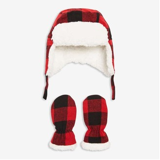 Joe Fresh Baby Boys' Trapper Hat and Mitts Set, Red (Size 0-12)