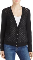 Three Dots Lace Front Cardigan