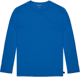 Derek Rose Basel Sapphire Blue Long Sleeve Lounge T-Shirt