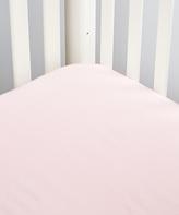 Pink Flannel Crib Sheet