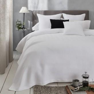 The White Company Mason Bedspread, White, Emperor