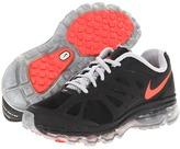 Nike Air Max 2012 (Big Kid) (Black/Metallic Silver/White/Bright Crimson) - Footwear