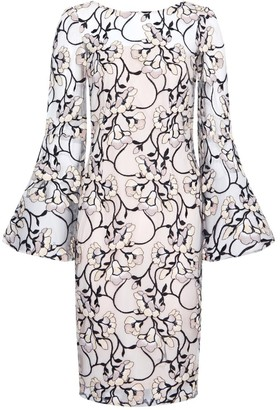 Adrianna Papell Floral Embroidered Sheath