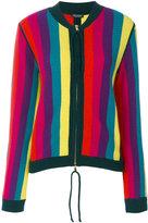 Twin-Set striped zipper cardigan - women - Polyamide/Viscose/Cashmere/Wool - M