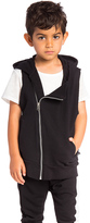 Nununu Diagonal Hooded Vest