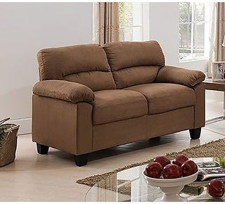 K And B Furniture Co MicroFiber Transitional Loveseat