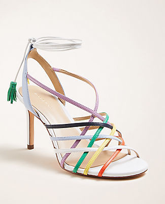 Ann Taylor Oren Rainbow Leather Sandals