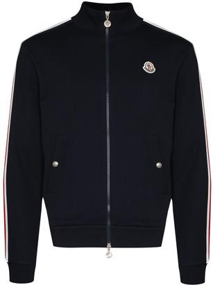 Moncler Logo-Patch Zip-Up Sweatshirt