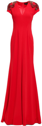Jenny Packham Embellished Stretch-crepe Gown