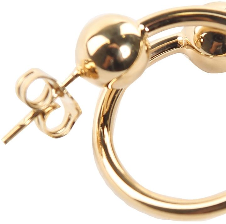 J.W.Anderson Double-sphere Gold-plated Earrings