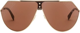 Fendi Eyewear Eyeline 2.0 shield sunglasses